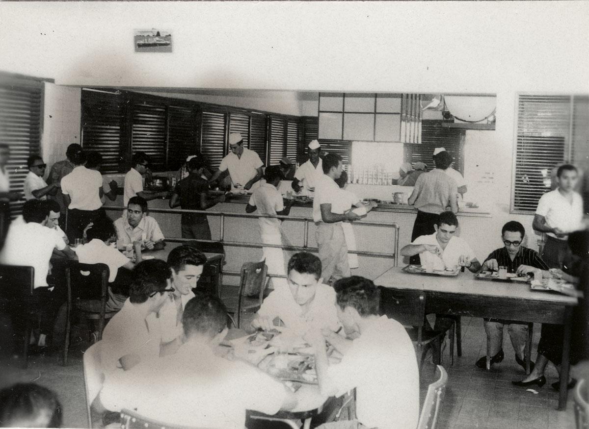 Almoço no Clube do Estudante Universitário, 11/08/1963.