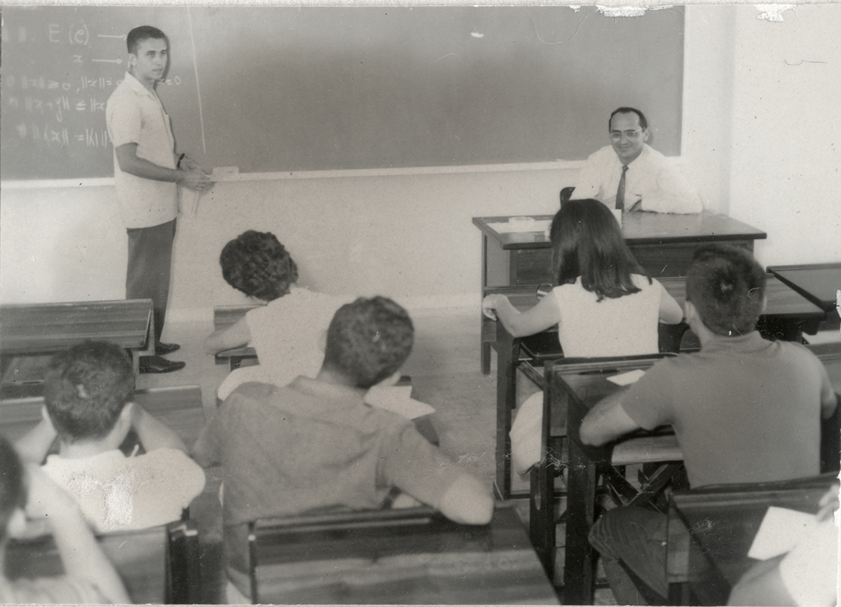 Sala de aula no Instituto de Matemática, 1963.