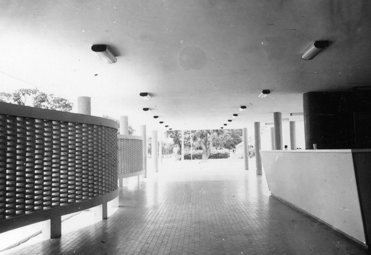 Cantina da Escola de Engenharia, em construção, 1966.