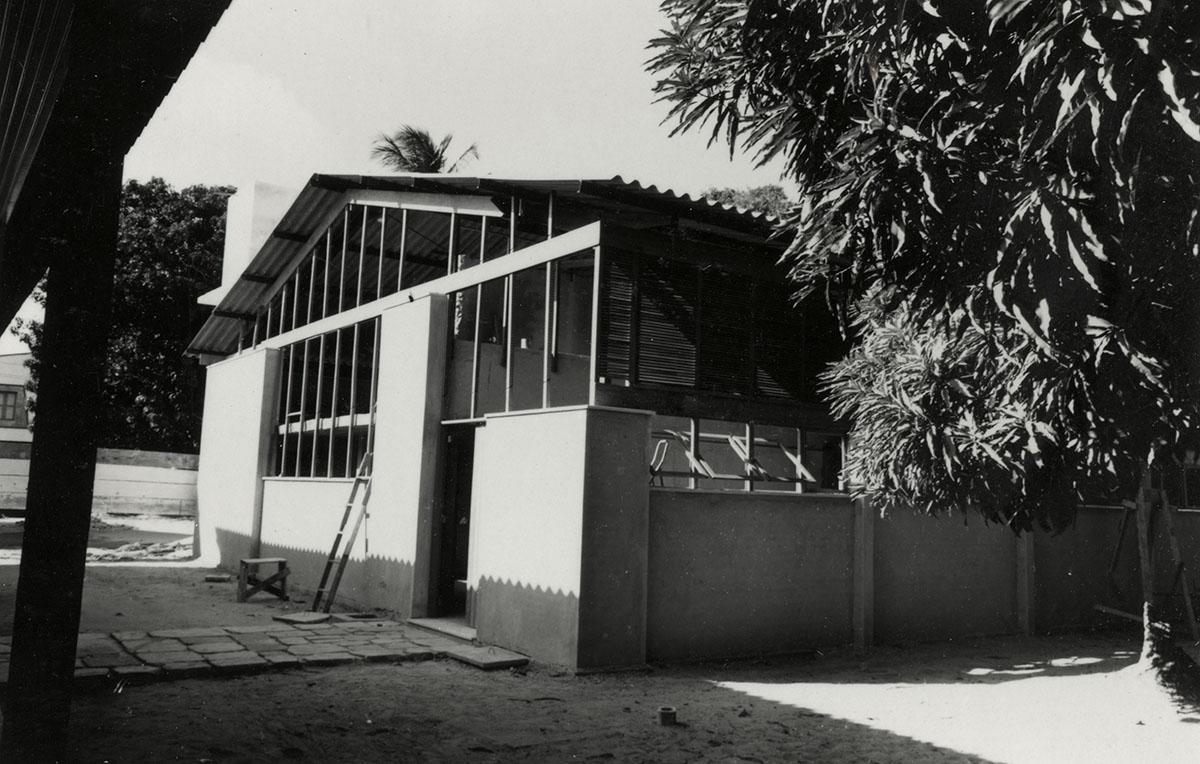 Construção do Pavilhão Antônio Martins Filho, Escola de Arquitetura, 1966.