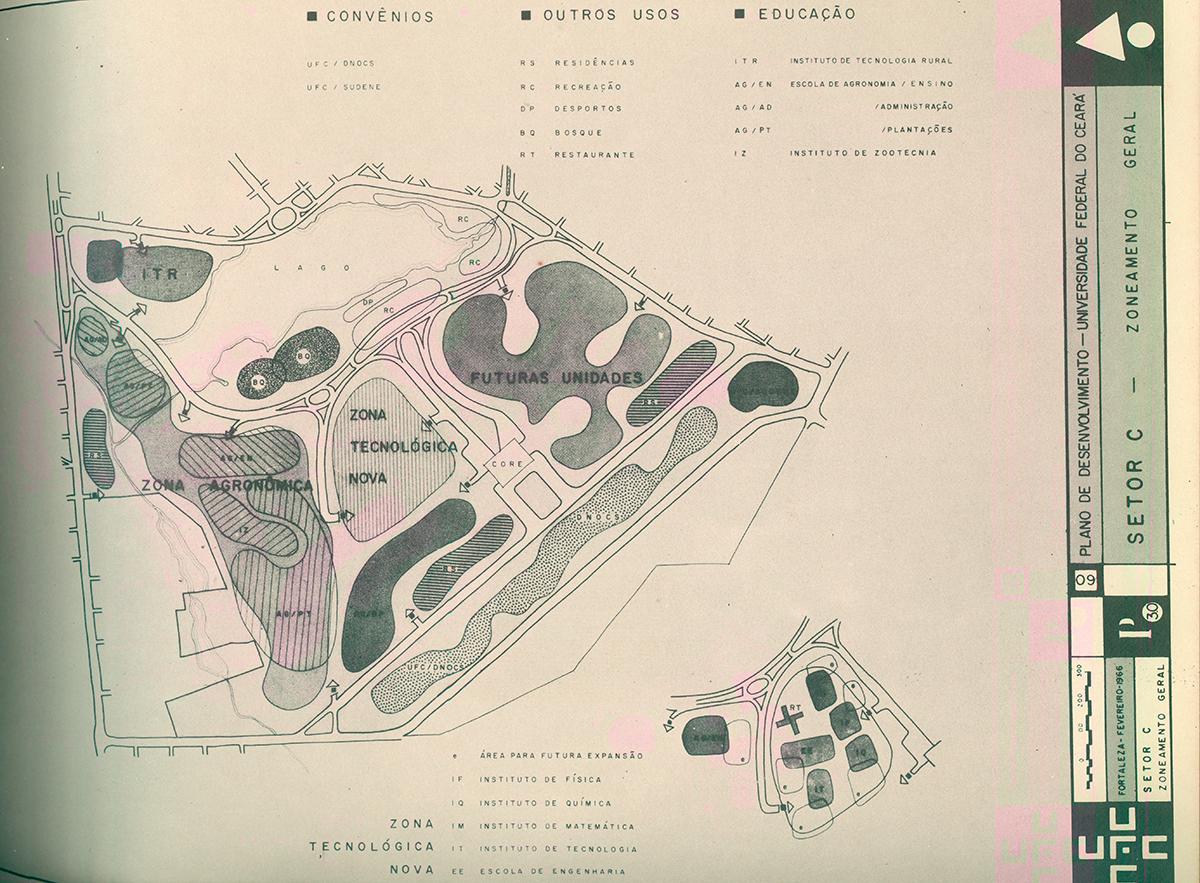 Projeto de Transferência dos Institutos Básicos e da Escola de Engenharia para o Pici - Plano de Desenvolvimento - 1966.