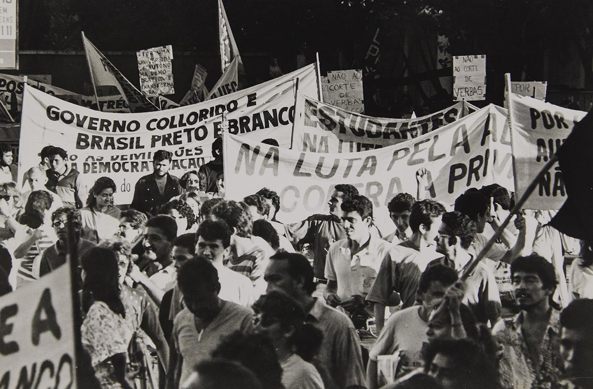 Manifestação contra o governo Collor, 1990.
